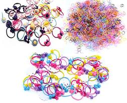 Oopsu 1870 pcs Hair Accessories for Girls–Cute Ponytail Ho