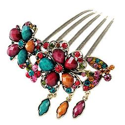 Voberry® Fashion Women Hair Accessory Retro Rhinestone Peta