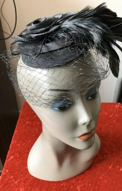 Hair Clip Hat Feather Accessories costume black theater part