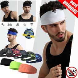 Hair Head Band Sweatband Headband Stretch Mens Wrap Elastic