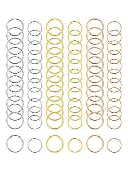 Hicarer 180 Pieces Hair Rings Braid Rings Hair Hoops Hair Lo