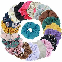 Hair Scrunchies Cotton Elastic Bands 20 Pcs For Hair Accesso