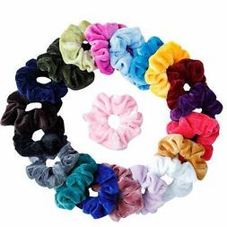 Mandydov 20 Pcs Hair Scrunchies Velvet Elastic Hair Bands Sc