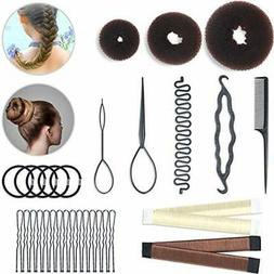Hair Styling Bun & Crown Shapers Set Braid Tool 3 Pieces Don