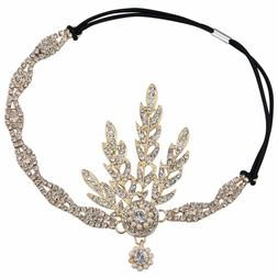 Babeyond Handmade Flapper Great Gatsby Inspired Leaf Medalli