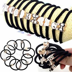 Hot 10X/Set Girls Elastic Hair Ties Band Ropes Ring Ponytail