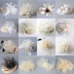 Ivory Lady Pillbox Hat Cap Fascinator Veil Hair Clip Cocktai