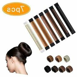 Kissbuty 7 Bun & Crown Shapers Pcs Maker French Twist Hair D
