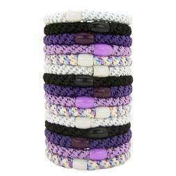 L. Erickson Grab and Go Pony Tube Hair Ties in Ultra Violet