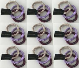 L ERICKSON grab & go ponytail holders elastic hair ties set