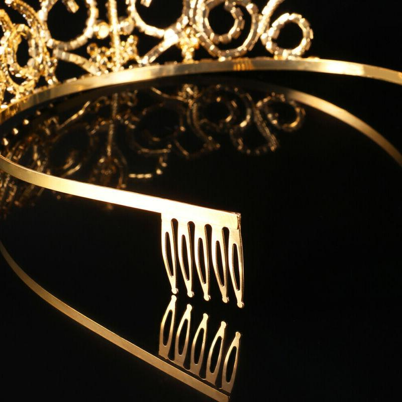 PIXNOR Crystal Tiara for Girls Ladies Comb