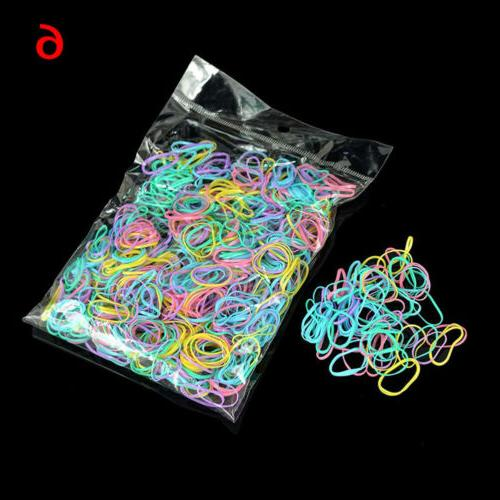 1000pcs Rope Silicone Hair Accessories
