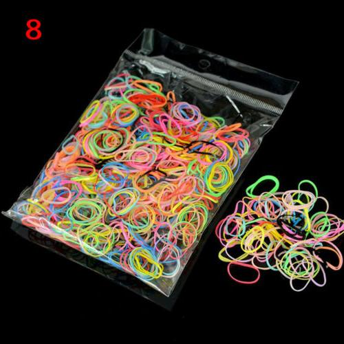 1000pcs Silicone Ponytail Holder Hair Accessories