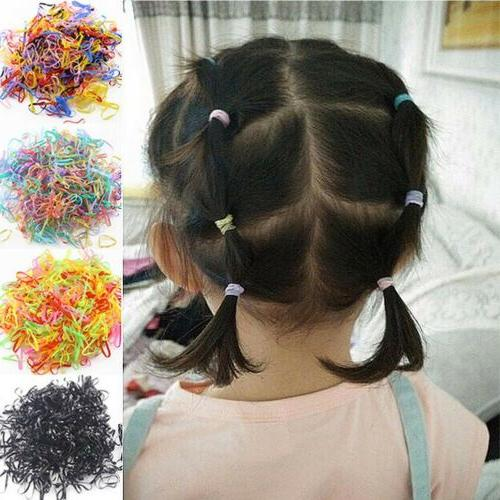 1000pcs Rubber Silicone Hair