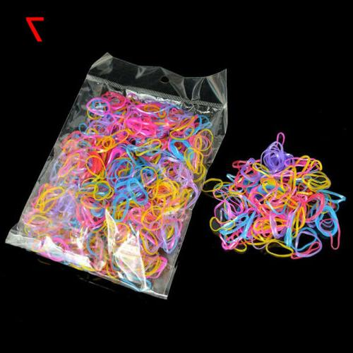 1000pcs Silicone Elastic Hair Accessories