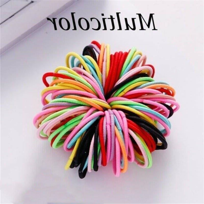 100Pcs Colorful Nylon Rope Sewing Hair Accessories