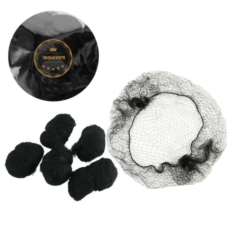 PIXNOR 100pcs Hair Nets Breathable Bun Cover for Bank Clerk