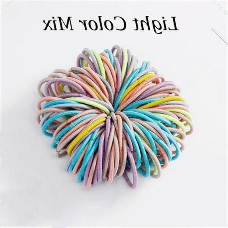100Pcs Rope Hair Holder Rubber Hairband