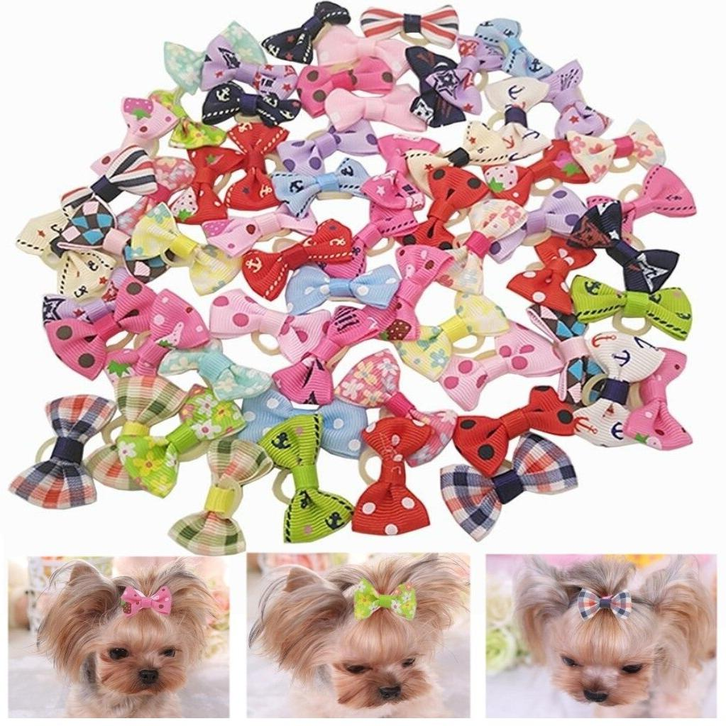 10pcs/20pcs <font><b>Hair</b></font> Pet Headdress for Teddy Yorkshire Maltese dog