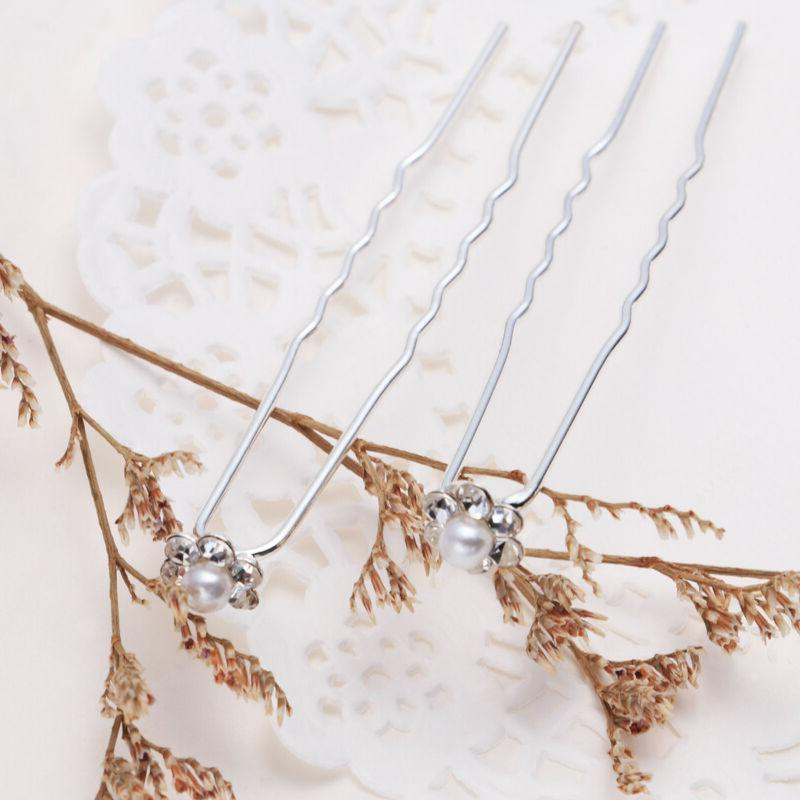 PIXNOR Bridal Hairpins Elegant U-Shaped Accessiories for Girls