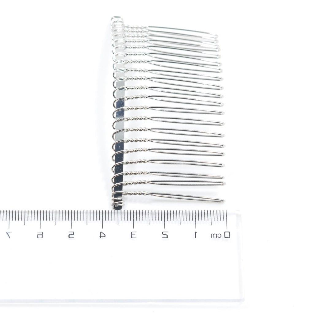 10x Metal <font><b>Hair</b></font> Veil Side Comb 20 Teeth <font><b>Hair</b></font> DIY <font><b>Making</b></font>
