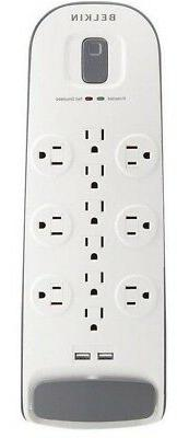 Belkin 12-Outlet Surge Protector Power Strip with 2 USB Port