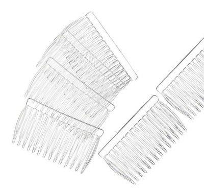 12 clear plastic hair combs simple