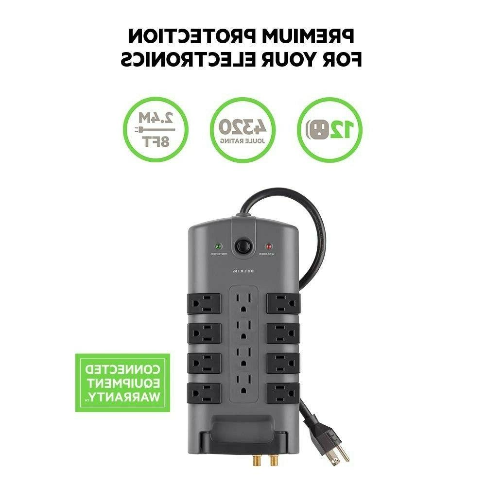 Belkin 12-Outlet Power Strip Surge with 8-Foot Power Cord