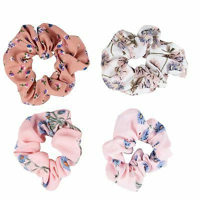 Juvale Floral Elastic Hair Scrunchies (Designs