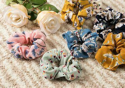 Juvale Chiffon Elastic Tie Scrunchies (Designs Selected