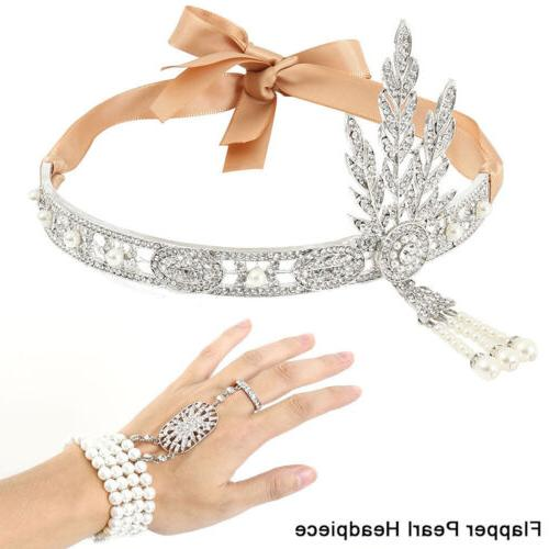 1920s flapper great gatsby headpiece hair accessories
