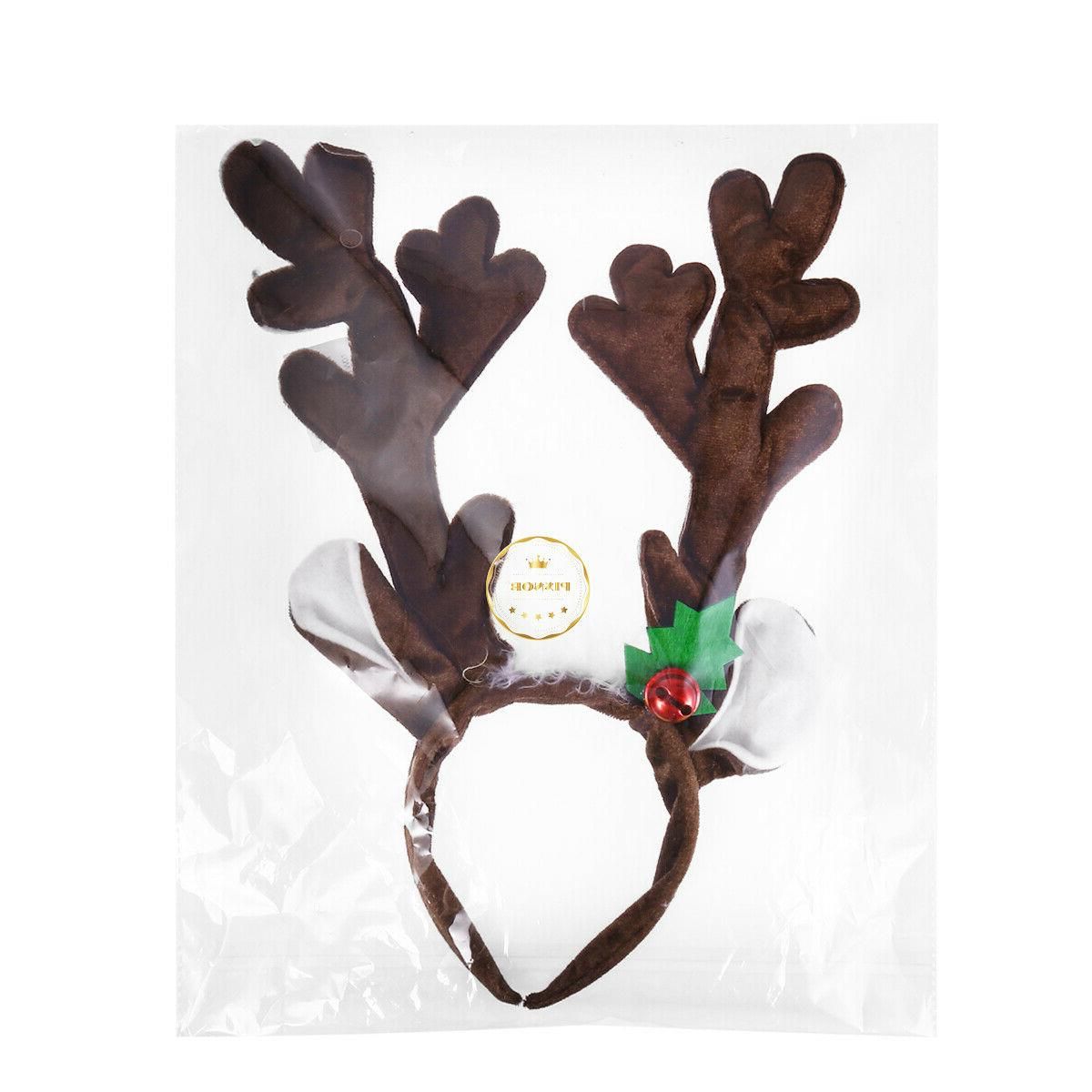 PIXNOR Antlers Beautiful Hair Hoop for Christmas Party