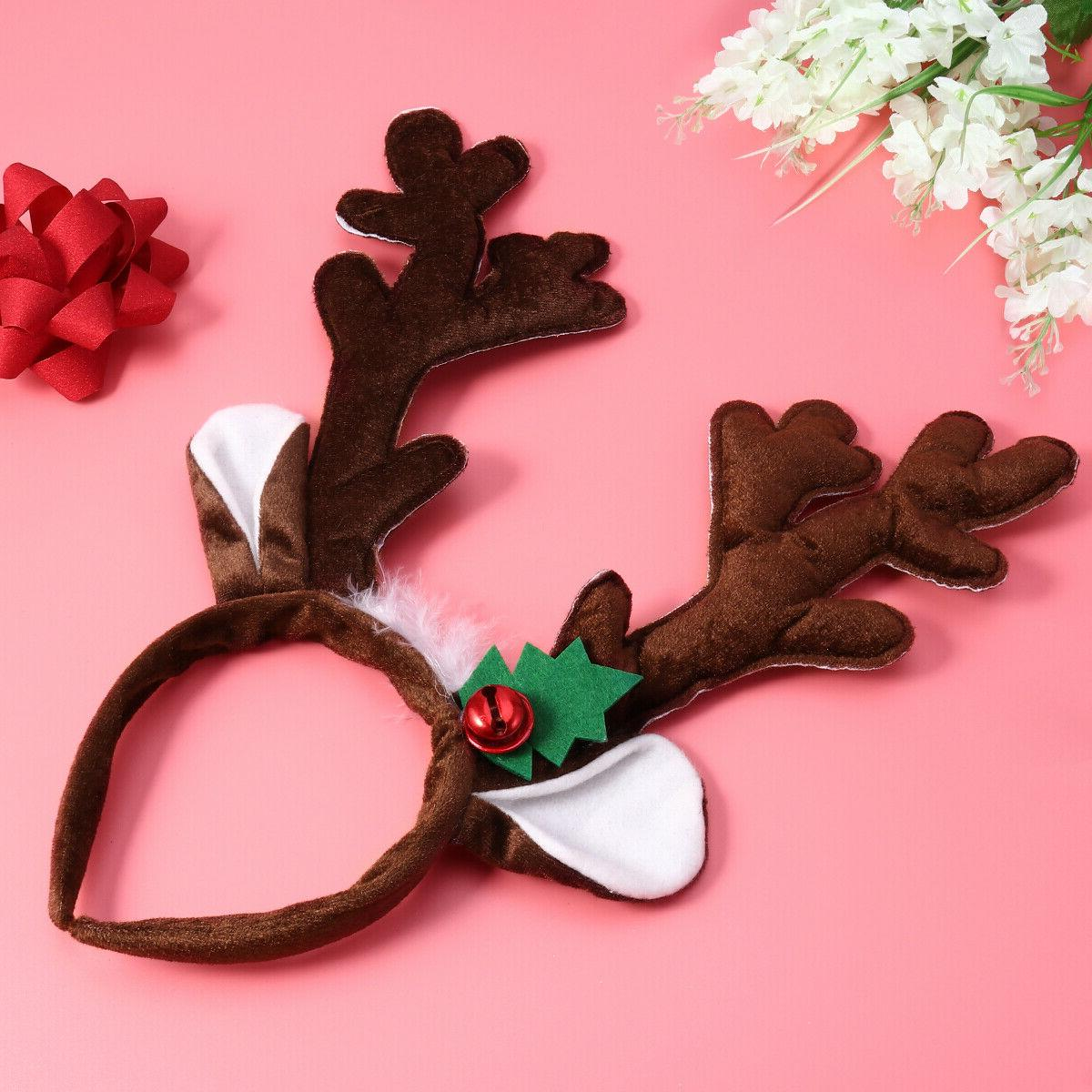 PIXNOR 1PC Antlers Plush Christmas Party