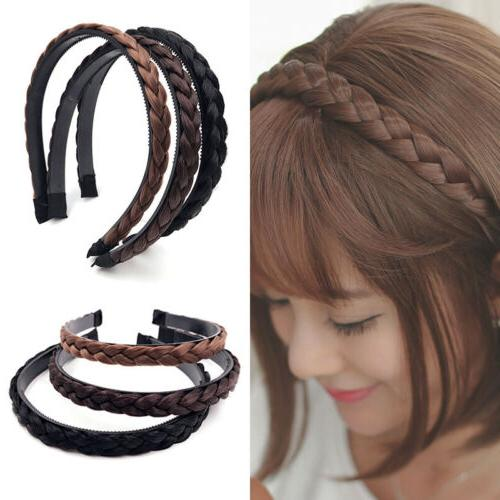 1PC Synthetic Braided Hair Headband