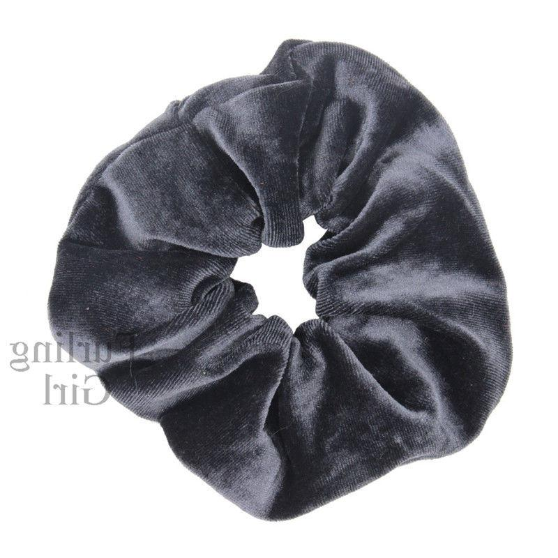 1X Velvet Scrunchies Ponytail Holder Elastic