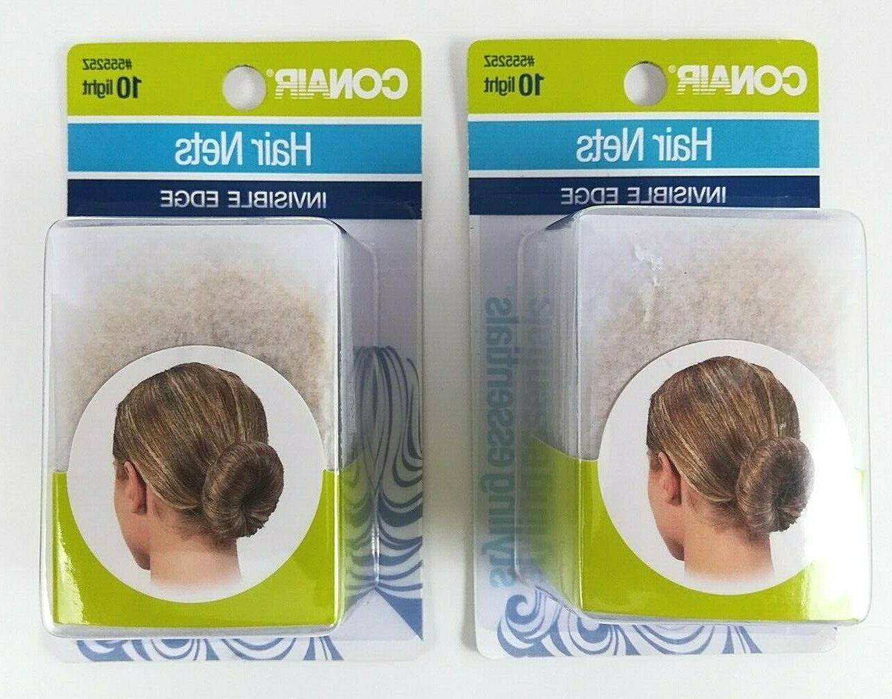 2 pack hair nets invisible edge 55252
