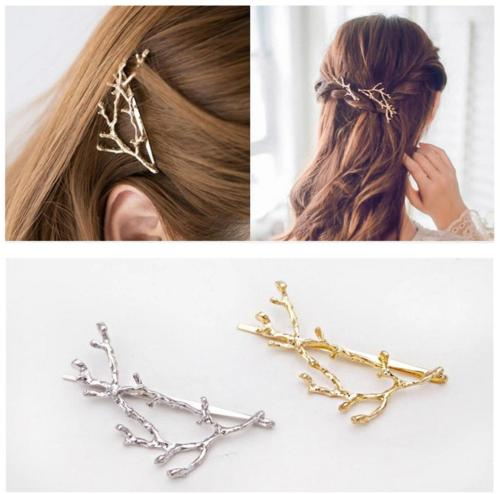 QTMY 2 PCS Metal Branches Hairpin Hair Clips Hair Accessorie