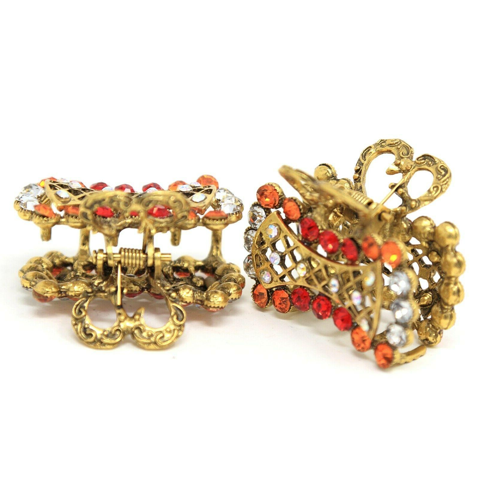 2 pieces rectangle hair claw pin summer