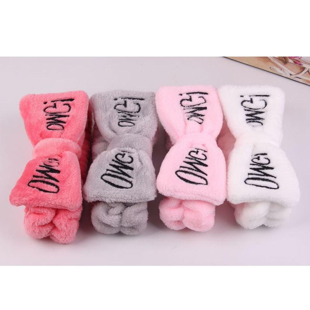 2019 New Coral Fleece Wash Face Bow For Girls <font><b>Hair</b></font> Bands <font><b>Accessories</b></font>