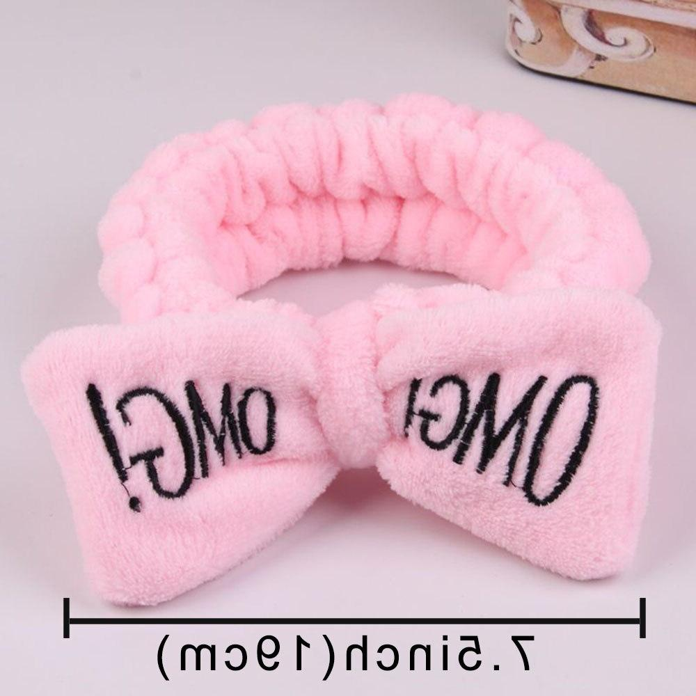 2019 Coral Fleece Bow For Women Girls <font><b>Headbands</b></font> Headwear <font><b>Hair</b></font> Bands