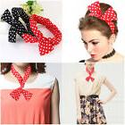 2pcs PIXNOR Girl Chiffon Head Wrap Cross Elastic Stretch Dot