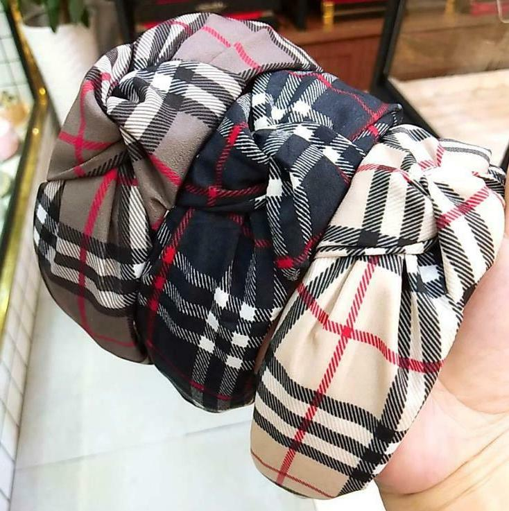 Headband Women Plaid