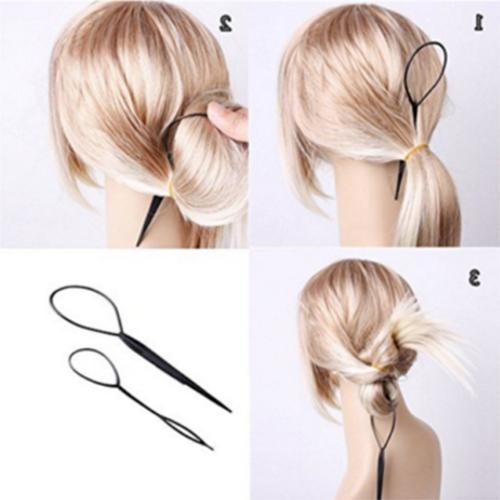 2PCS Topsy Tail Braid Ponytail Maker Tool Hair US