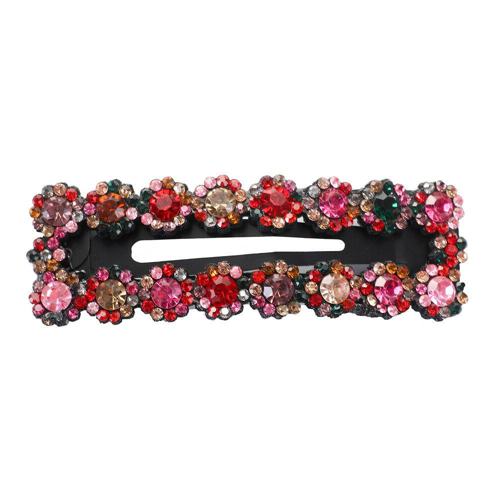 2PCS Crystal Snap Hair Slide Accessories