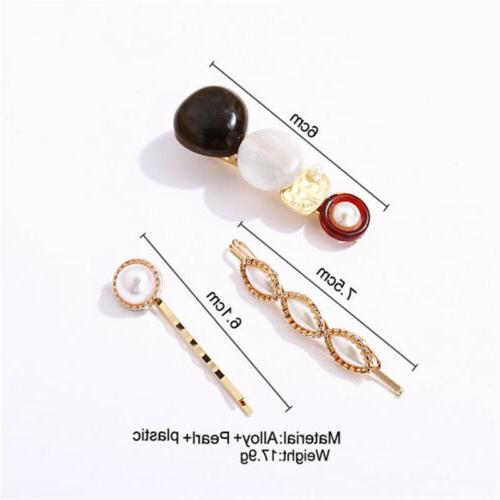 3Pcs Women Hair Clips Stick Hair