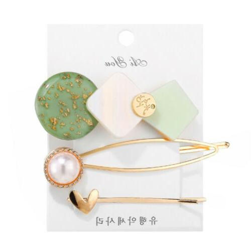 3Pcs Women Hair Clips Stick