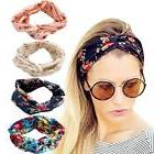 DRESHOW 4 Pack Headbands Vintage Elastic Printed Head Wrap S