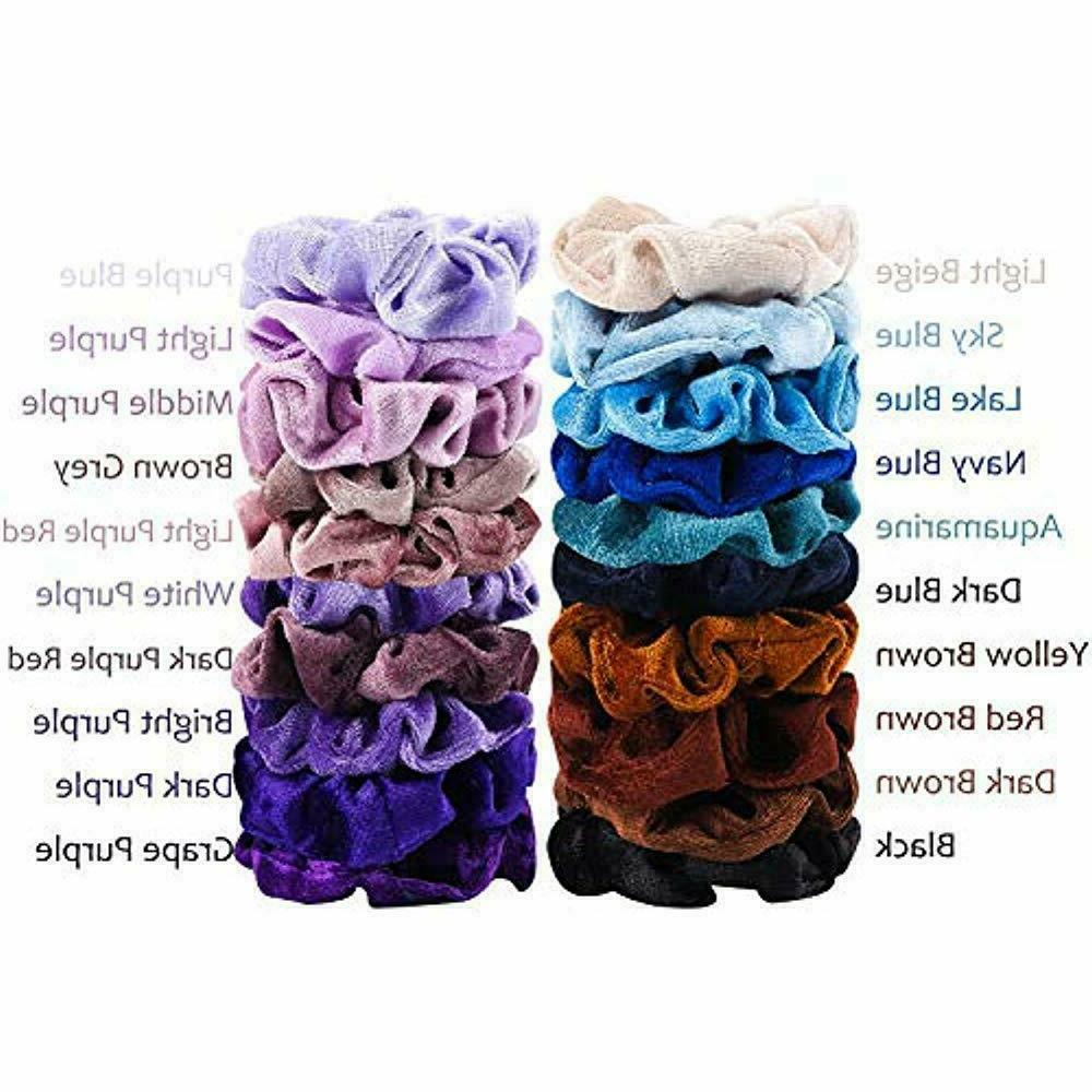 WATINC Velvet Hair Scrunchies Bobble Ponytail