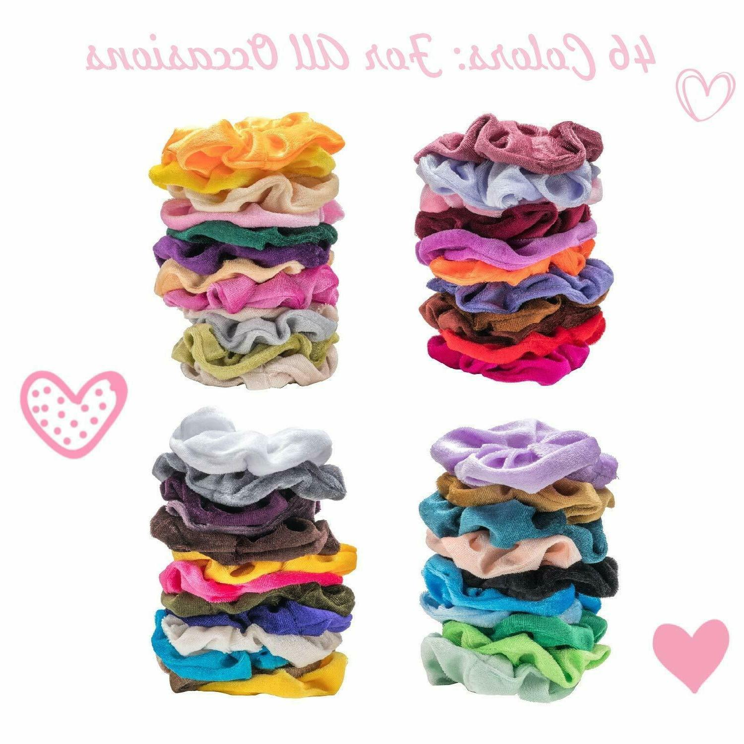 46 Pack Elastic Bands Bobbles Ponytail Ties Rope NEW