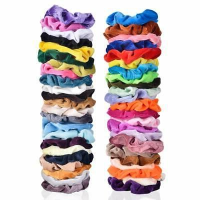 46 PACK ELASTIC BOBBLES PONYTAIL TIES NEW